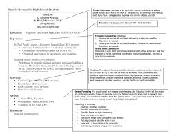Resume Sample Volunteer by College Resume Examples For High Seniors Free Resume