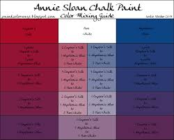 Color Swatches Paint by Colorways Annie Sloan Chalk Paint Mixing For Purple With Emperor U0027s