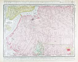 Brooklyn New York Map by Vintage Street Map Downtown Brooklyn New York Ny 1900 Stock