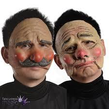 horror clown halloween fancy dress costume latex half face mask