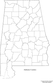 Printable Map Of The United States Alabama Outline Maps And Map Links