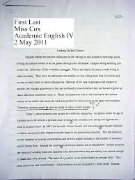 outline example essay middle school science fair research paper template