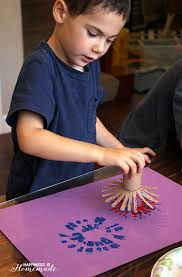 4th of july kids craft fireworks painting happiness is homemade