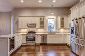 Kitchen Peninsula With Seating by White Shaker Cabinets Kitchen Photo Gallery
