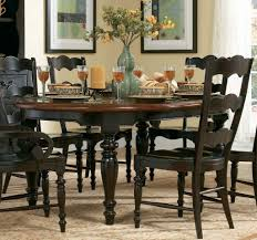 Round Dining Table Sets For 6 Modus Bossa 6 Piece Round Dining Room Set In Dark Homelegance