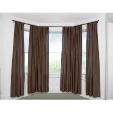 bay window curtain rod set 5 8