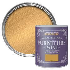 Rustoleum Kitchen Cabinet Paint Rust Oleum Gold Metallic Furniture Paint 0 75l Departments Diy
