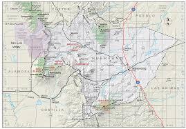County Map Of Colorado Huerfano County Colorado Geological Survey