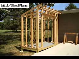 Plans For Building A Wood Storage Shed by How To Build A Lean To Style Storage Shed Youtube
