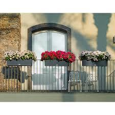 rectangle lechuza balconera cottage self watering resin planter