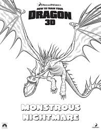 monstrous nightmare coloring pages hellokids com