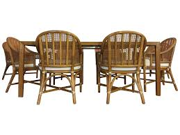 Bamboo Dining Room Furniture by Mcguire Bamboo U0026 Rattan Dining Set Chairish