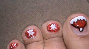 cute santa toes christmas nail art tutorial easy nail polish
