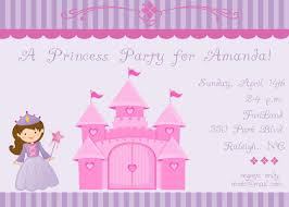 amazing princess birthday party invitations trends theruntime com