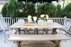 Safavieh Dining Room Chairs by White And Navy Coastal Deck On A Budget U2013 Glam York