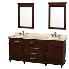 Cheap Bathroom Vanities With Tops by Wyndham Collection Berkeley 72 In Double Vanity In Dark Chestnut