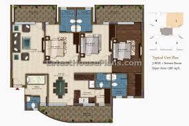 2000 Sq Ft Bungalow Floor Plans 3 Bhk Apartment Floor Plan In Area Of 1850 Sqft Latest House