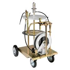 64000 portable air operated grease pump trolley kit for 180kg