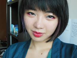 i decided to keep the red eyeshadow on the lower lashline makeup used geisha makeup red eyeshadow mugeek vidalondon