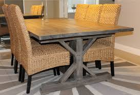 dining tables rustic round dining table weathered gray dining