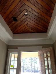 foyer penny width pine paneling tongue u0026 groove ceiling