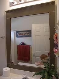 bathroom mirror frames before after cute bathroom mirror frames