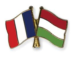 France-Hungary flag pin