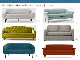 Ava Velvet Tufted Sleeper Sofa by Six Stylish Sofas For Under 1 000