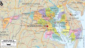 Map Of Cities In Usa by Map Of Maryland Travel Map Vacations Travelsfinders Com