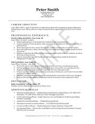 Oilfield Resume Objective Examples by Loan Officer Resume Example Resume Examples