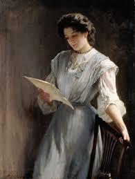 Reading the Letter - Thomas Benjamin Kennington als Kunstdruck ... - Reading-the-Letter