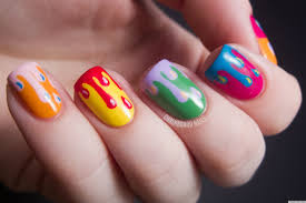 diy nail ideas paint drip nail art and more of our manicures from