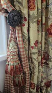 embroidered silk taffeta with silk check lining u0026 custom tassels