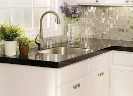 Small Kitchen Backsplash Ideas by Small Kitchen Decoration Using White Marble Kitchen Counter Tops