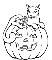 cat halloween coloring pages halloween cat coloring page free coloring pages of