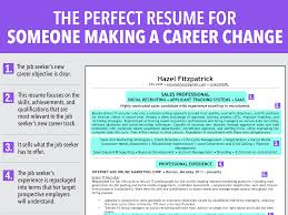 professor resume objective ideal resume for someone making a career change business insider