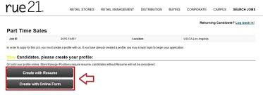 Resume Application For Job by How To Apply For Rue 21 Jobs Online At Careers Rue21 Com