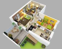 aerial view of the 3d floor plan for our spring showroom house