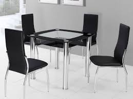 Dining Room Wall Decor Kitchen Chairs Elegant Square Tempered Glass Dining Table