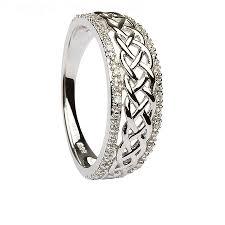 halloween wedding rings womens celtic knot diamond white gold ring celtic wedding rings