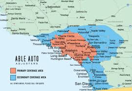 Zip Code Map Of Los Angeles by Repossessions Recovery And Skip Tracing By Able Auto Adjusters