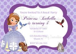 princess sofia party invitations home party ideas