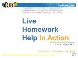 Live Homework Help In Action Library background and demographics
