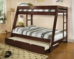 Bedroom Furniture Espresso Finish Over Full Bunk Bed Solid Wood Espresso Finish Trundle