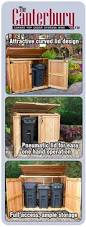 Free Wooden Garbage Box Plans by 6x3 Oscar Trash Can Storage Shed Outdoor Living Storage And Yards