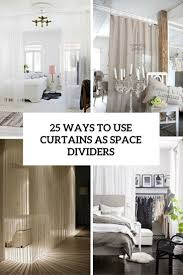 room divider curtain 25 ways to use curtains as space dividers digsdigs