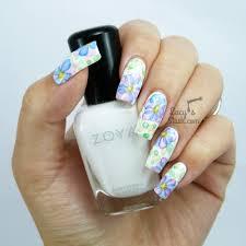 watercolour flower nail art lucy u0027s stash