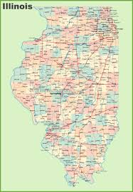 Large Map Of Usa by Map Of Illinois With Cities And Towns