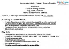 Sample Resume For Admin Assistant by Key Skills Resume Administrative Assistant 11555