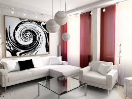 living room elegance modern furniture decors with red fur rug